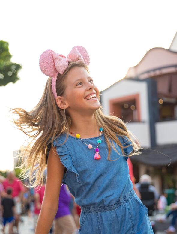 Young Girl Laughing At Disneyland Park