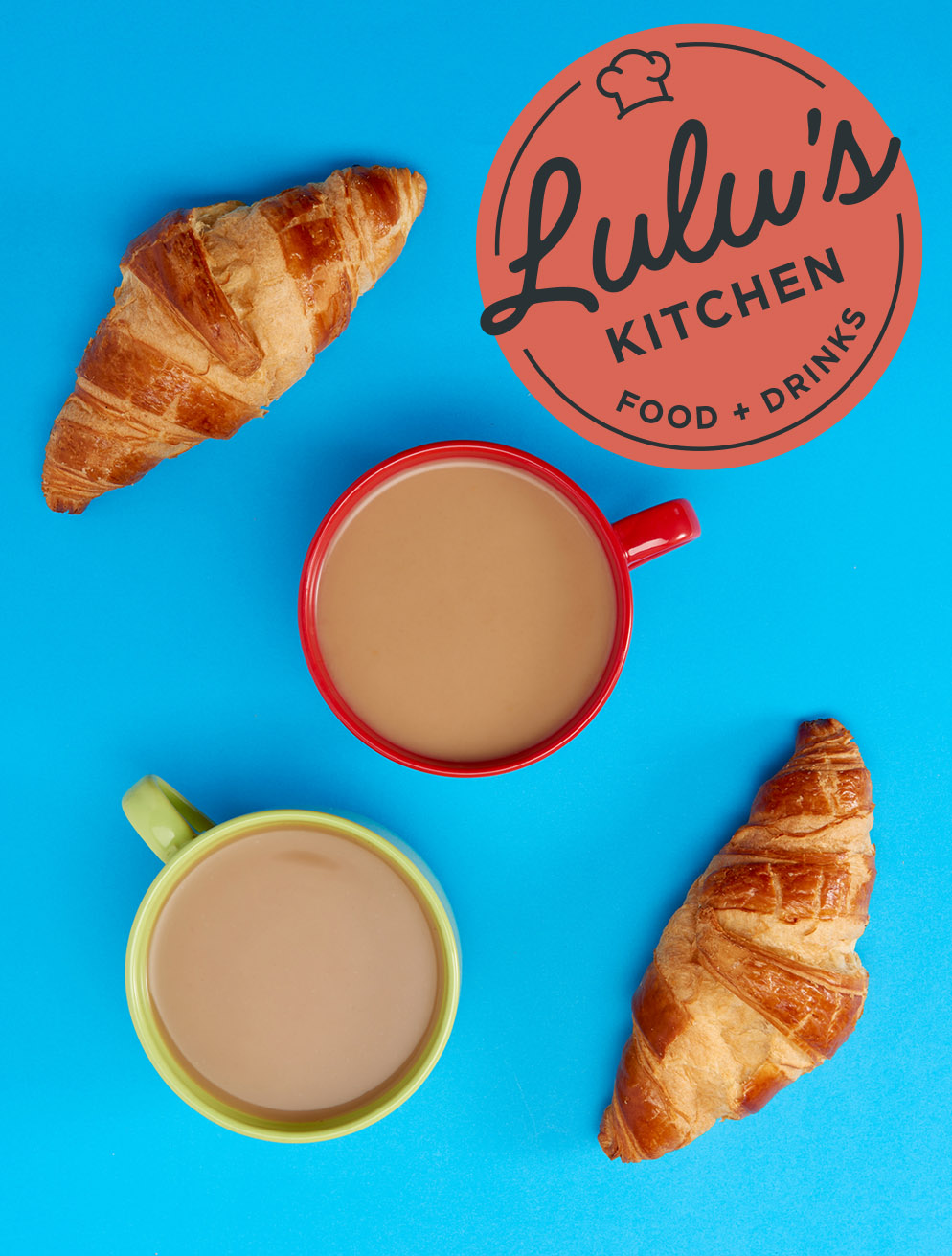 Enjoy gourmet coffee and fresh pastries served at Lulu's Kitchen