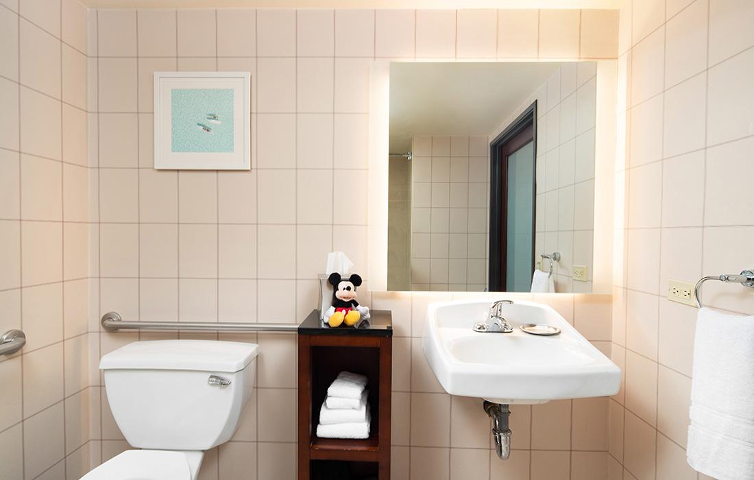 ADA Bathroom Vanity at Hotel Lulu Anaheim