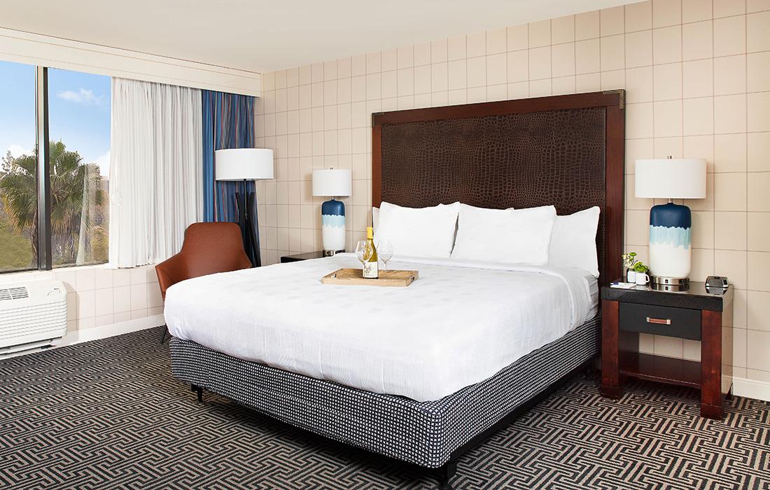ADA King Bed at Hotel Lulu in Anaheim California